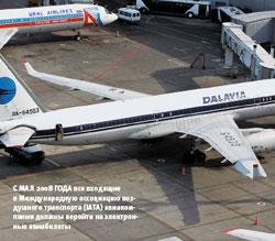 смая 2008года все входящие вМеждународную ассоциацию воздушного транспорта (IATA) авиакомпании должны перейти на электронные авиабилеты