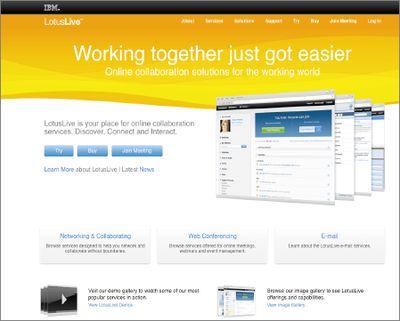 LotusLive.com— место, где можно найти все решения, включая электронную почту, средства для совместной работы иWeb-конференций, ввиде «облачных» сервисов, доступных через Web