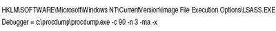Экран 4. Результат использования ProcDump с параметром -x