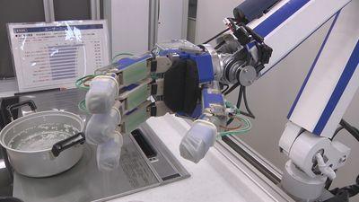 Специально для кухни в Panasonic разработали робота, который умеет подавать блюда на стол и мыть посуду