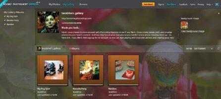 Доступ к основным функциям через кнопки My gallery, My Photos и Edit