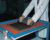 Рис. 3. Ламинирование комбинированной плёнки на сетке