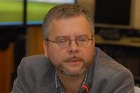 Михаил Жижин демонстрирует работу системы визуализации