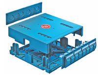 Рисунок 8. R&M U-Box для быстрого монтажа небольших коммутационных узлов под фальшполом или за подвесным потолком продолжает развитие решений для точек консолидации при построении единой кабельной проводки для открытых офисов.