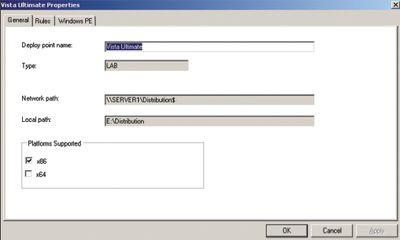 Экран 4. Вкладка General на странице свойств точки размещения