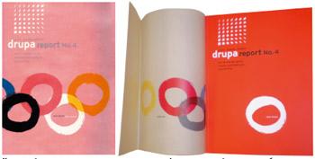 Красивый пример использования кальки в графическом дизайне — суперобложка к Drupa Report № 4. Пять олимпийских разноцветных колец расположены в трёх плоскостях. Белое — на бумажной обложке, а остальные — по два с разных сторон полупрозрачной суперобложки