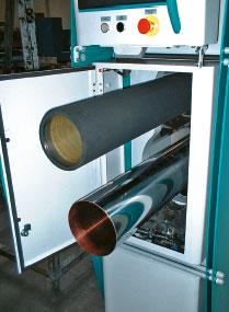 Одновременное извлечение лёгких гильз с формного и печатного вала в машине Uteco Q-Press заметно ускоряет процесс смены заказа