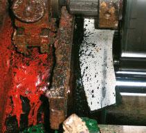 Сильное разбрызгивание краски бывает причиной остановки машины