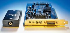 Адаптер Coaxial-to-Toslink Converter компании SIIG (слева) соединяет цифровые аудиопорты ПК и аудиоусилителя