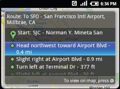 Это приложение для прокладки маршрута было встроено в раннюю версию платформы Android
