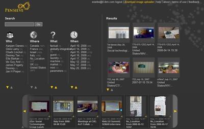 При загрузке фотографии программа обращается к календарю пользователя, выясняя, что он делал в это время; благодаря этому изображения можно объединить в группы в соответствии со сведениями о времени, о местоположении и о планировавшихся событиях