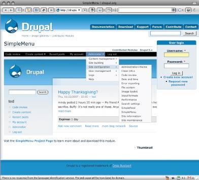 Всостав версии Carbon входит ядро Drupal 6.x, три десятка основных модулей, модуль установки иразнообразная документация имногочисленные руководства по созданию сайтов