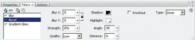 Рис. 4. Панель Filters для анимации нескольких фильтров