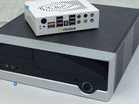 1. Внешний вид референсного Ion 2. Системная плата, выполненная вформфакторе Mini ITX, накладывает определенный отпечаток на размеры ПК — на сверхкомпактный он явно не тянет, но от стандартных десктопов все же отличается