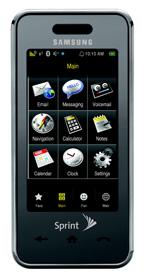 Samsung Instinct немного меньше, чем iPhone, однако 'фактор крутизны' у него почти такой же