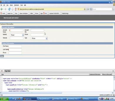 Visualforce использует «страничную модель», основанную на современных технологиях отображения информации вWeb, ипредоставляет библиотеку компонентов для включения стандартных элементов интерфейса