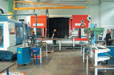 Детали трафаретных машин MHM изготовляются здесь же, на заводе в Австрии, на прецизионных станках с числовым программным управлением