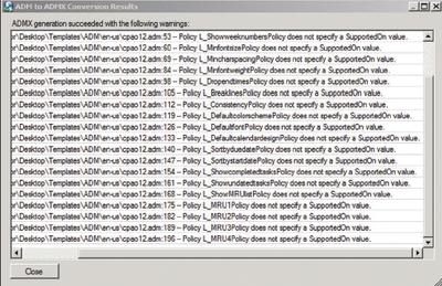 Экран 3. Окно результатов преобразования Conversion Results