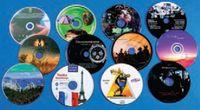 Набор CD и DVD из поликарбоната, отпечатанные в 6 красок сухим УФ-офсетом на KBA Metronic CD-Print