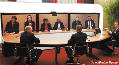 Рисунок 1. Конференции в реальном времени, или Telepresence, набирают популярность.