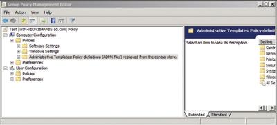 Экран 2. Узел Administrative Templates