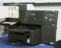 При установленном картридже сверхвысокой емкости дизайн принтера Epson B-500DN несколько страдает