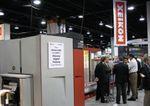 Новая ЦПМ Xeikon 3300 на стенде фирмы на выставке Labelexpo Ame-ricas — 2008 в Чикаго