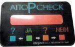 AttoP-Check — это отдельно изготовленная ПЭТ-этикетка, которая наклеивается на прозрачную упаковочную плёнку. Нанокраска реагирует более сильным изменением цвета, чем располагающееся под ней содержимое упаковки. Производитель бумаги Mondi производит и продаёт метки, гарантирующие корректную влажность бумаги для больших партий