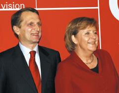 В официальном открытии выставки приняли участие канцлер Германии Ангела Меркель и ряд высокопоставленных отечественных чиновников во главе с вице-премьером российского правительства Сергеем Нарышкиным
