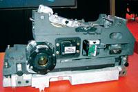 Лазерную головку GLV — сердце фиолетовых CTP компании Agfa — каждый мог осмотреть и потрогать