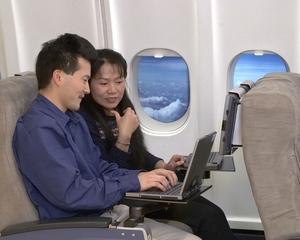 В 2008 году беспроводные локальные сети Wi-Fi вернулись в небо