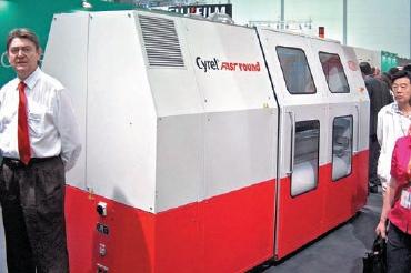 Стенд DuPont. По заявлению разработчиков, обработка одной рукавной формы с помощью системы DuPont Cyrel Round занимает неболее 8-10 минут
