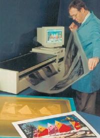 Рис. 3. Цифровая система создания изображений — плёночный позитив изготавливается термическим способом