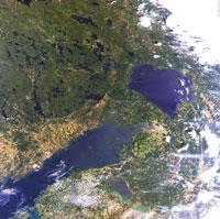 MERIS: Ладожское озеро и Финский залив