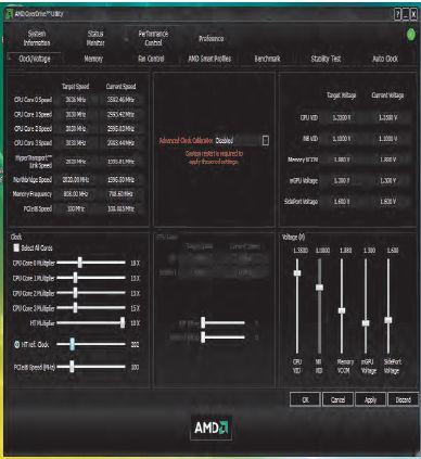 Программа AMD OverDrive предназначена для тонкой настройки процессора и микросхем системной логики, а также для мониторинга различных параметров системы, как то: частот, напряжений и температур