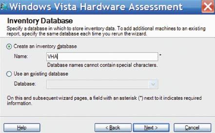 Экран 2. Выбор базы для хранения данных инвентаризации
