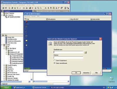 Рисунок 1. Передача файлов на 6720t имеет смысл, если с помощью сценария или локальной команды заранее деактивировать защиту флэш-памяти от записи.