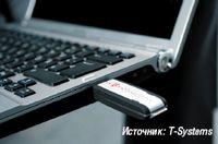 Рисунок 1. С помощью модуля USB сотрудники получают доступ к своему рабочему столу с любого компьютера, подключенного к Internet.