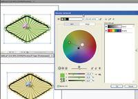 Рис. 7. Цветовое изменение рисунка В палитре Edit на цветовом круге передвижением маркеров цвета можно изменить цветовой вид иллюстрации