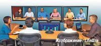 Рисунок 1. Решения для «телеприсутствия» в формате Full HD позволяют встречаться лицом к лицу, находясь в разных офисах.