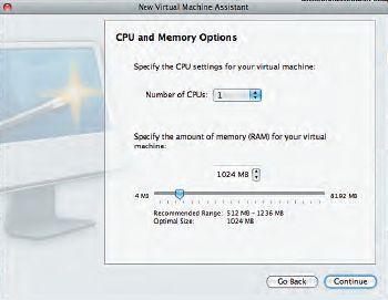 Настройки ресурсов виртуальной машины