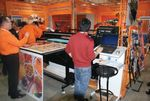 На выставке демонстрировалась модель Dilli NeoTitan с шириной печати 1,6 м. Скорость печати