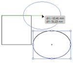 Рис. 6. Пример появления информационных направляющих при перемещении объекта