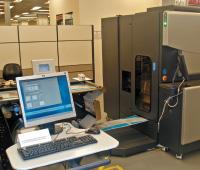 Экспозиция, на которой демонстрировалась и HP Indigo ws6000, была развёрнута прямо в цехах одного из двух сборочных производств HP Indigo