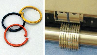 Съёмные биговальные кольца — принципиальный момент: они легко заменяются и устанавливаются на биговальном ролике в соответствии с цветовой маркировкой