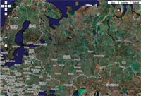 Сервис Google Maps позволяет пользователю выбрать любой нужный масштаб карты местности