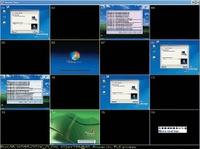 Рисунок 3. Устройства серии KVM Over the NET линейки ALTUSEN (KH1516i,  KN2116, KN9116) обладают возможностью выводить на удаленный монитор 16 окон.