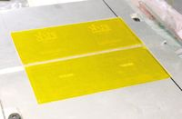 Количество форм, закреплённых на талере в тигельных машинах, также зависит от количества цветов.