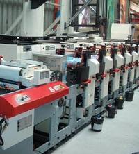 Особенность сервоприводной флексомашины MPS EF 330 — валы охлаждения полотна в каждой печатной секции