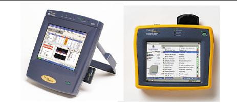 Рисунок 4. Портативный анализатор OptiView Analyzer (слева) и EtherScope Pro (справа).